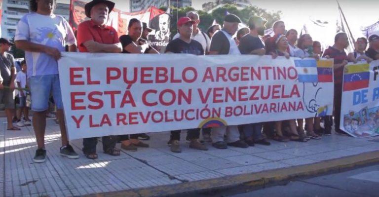 [ARGENTINA] Movilización antiimperialista en apoyo a Venezuela