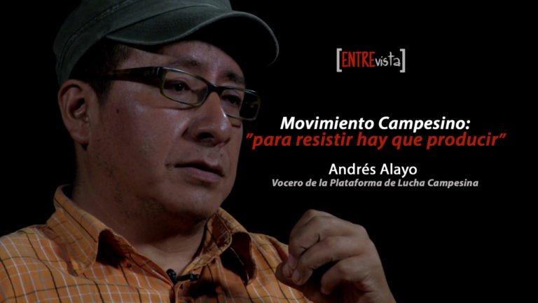 [VIDEO] «Para resistir hay que producir». Entrevista a Andrés Alayo