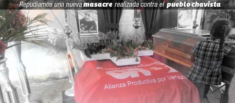[JUSTICIA] Repudiamos una nueva masacre realizada contra el pueblo chavista