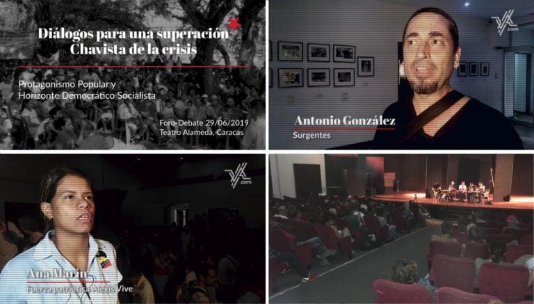 """[FORO-DEBATE+VIDEOS] Movimientos Populares Buscan una """"Superación Chavista de la Crisis"""""""