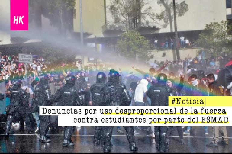[COLOMBIA]  Desmanes del Esmad en tres universidades de Bogotá