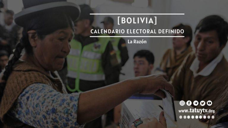 [BOLIVIA] Calendario electoral definido