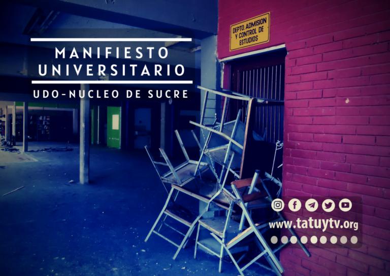 [DENUNCIA] Manifiesto Universitario (UDO – Núcleo de Sucre)