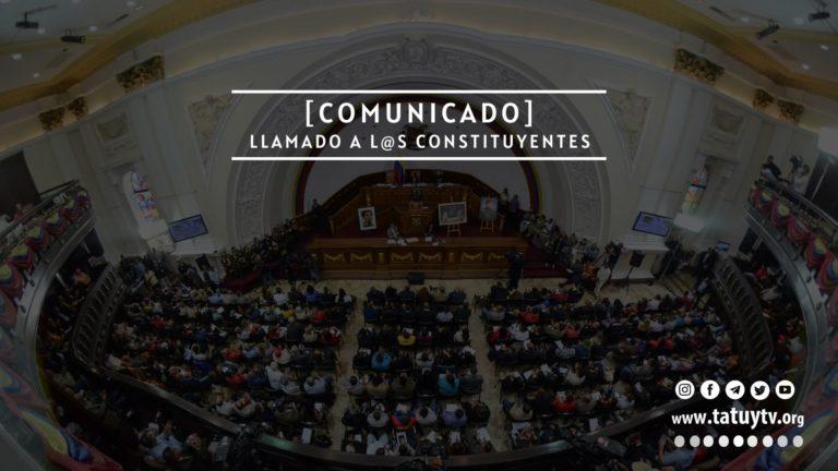 [COMUNICADO] Llamado a l@s constituyentes