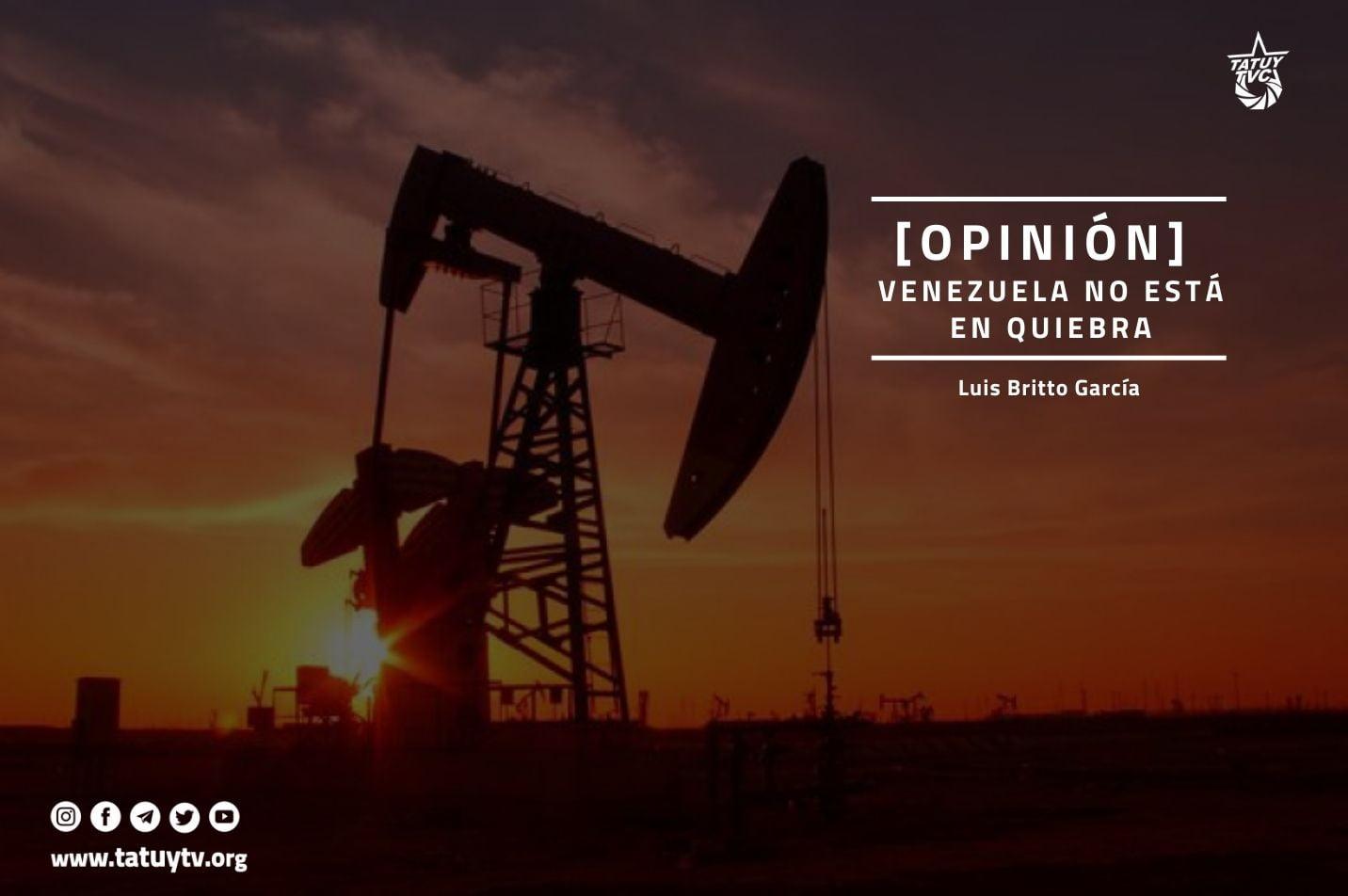 venezuela no está en quiebra