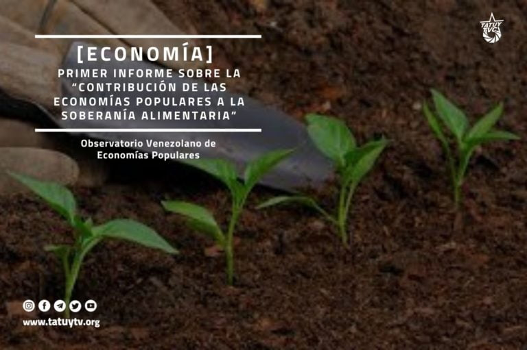 """[ECONOMÍA] Primer informe sobre la """"Contribución de las Economías Populares a la soberanía alimentaria"""""""