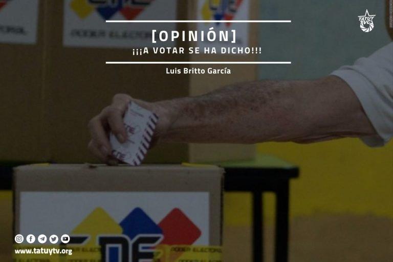 [OPINIÓN] ¡¡¡A votar se ha dicho!!!